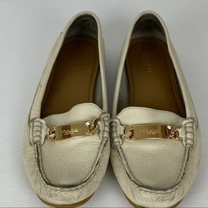 Coach pebble grain leather loafers